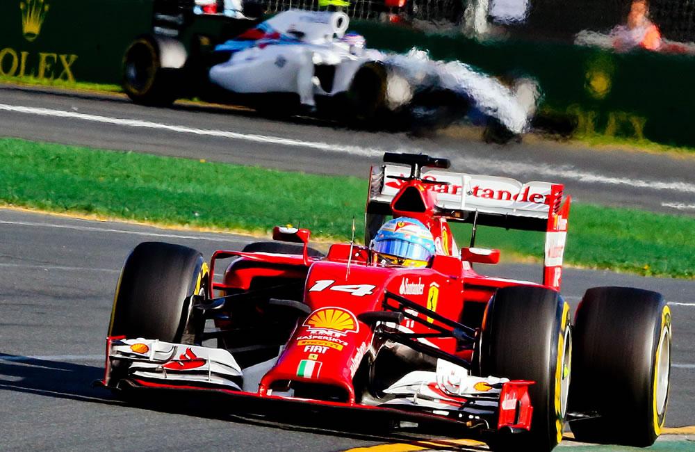 El piloto español Fernando Alonso durante el Gran Premio de Australia. Foto: EFE