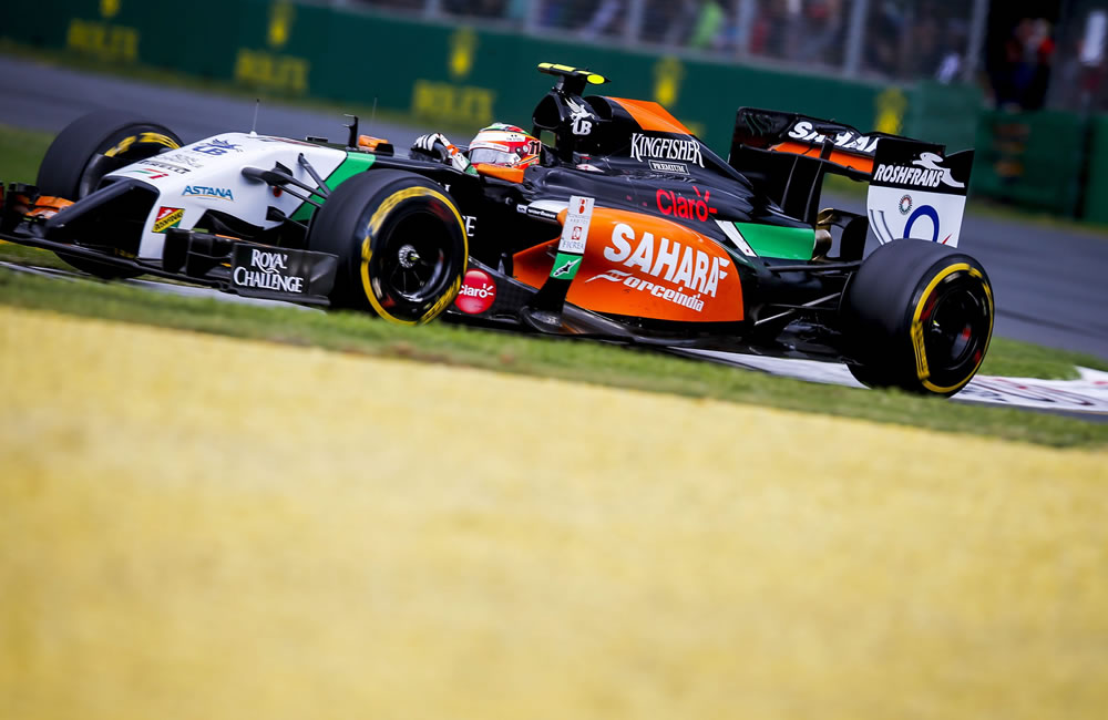 El piloto mexicano Sergio Pérez durante el Gran Premio de Australia. Foto: EFE