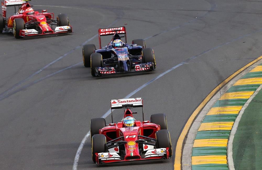 Pilotos durante el Gran Premio de Australia. Foto: EFE