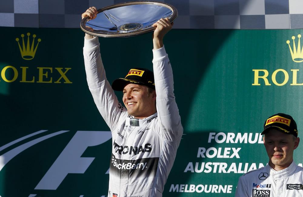 El piloto alemán Nico Rosberg se coronó campeón del Gran Premio de Australia. Foto: EFE