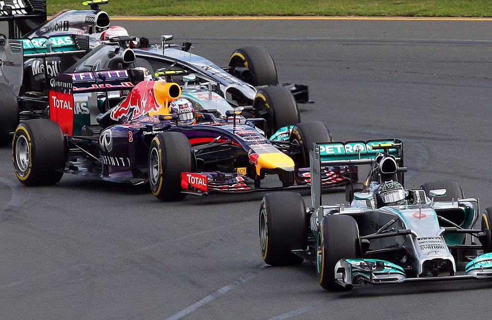 Pilotos durante el Gran Premio de Austraia. Foto: EFE