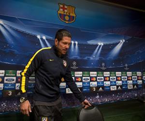 Simeone: 'Mañana vamos a tener enfrente al mejor Barcelona'