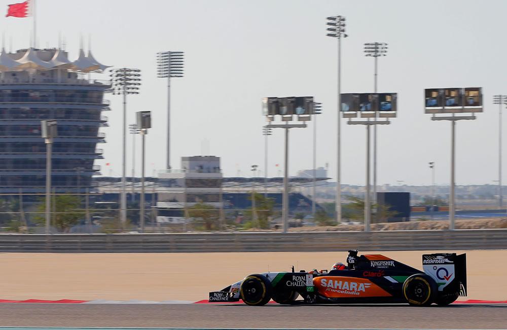 El piloto aléman Nico Hulkerbeng durante la clasificación del Gran Premio de Baréin. Foto: EFE