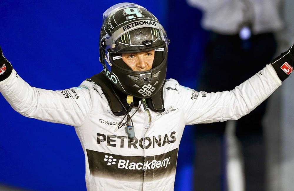El piloto alemán Nico Rosberg saldrá primero en el Gran Premio de Baréin. Foto: EFE
