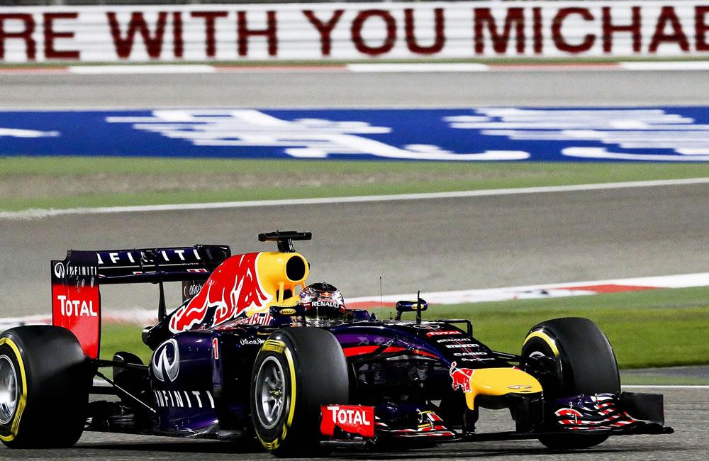 El piloto alemán Sebastian Vettel durante la clasificación del Gran Premio de Baréin. Foto: EFE