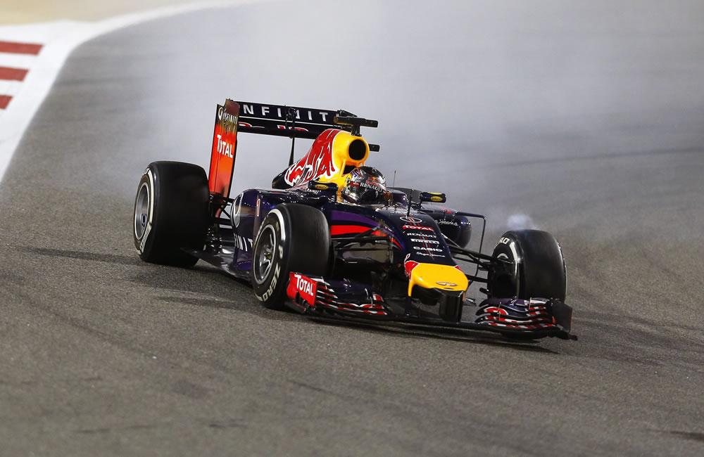 El piloto alemán Sebastian Vettel durante el Gran Premio de Baréin. Foto: EFE