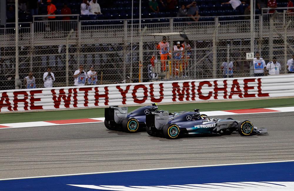 El piloto británico Lewis Hamilton durante el Gran Premio de Baréin. Foto: EFE