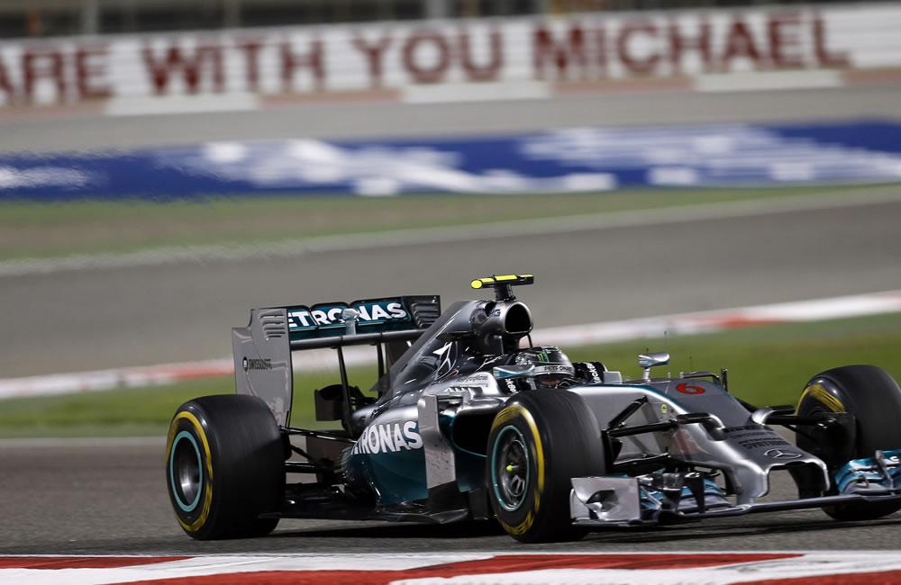 El piloto alemán Nico Rosberg durante el Gran Premio de Baréin. Foto: EFE
