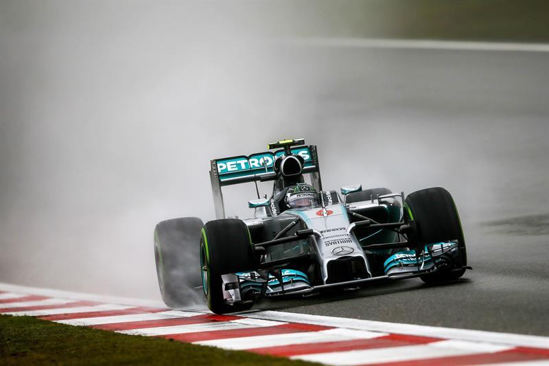El piloto aleman Nico Rosberg durante la preclasificación del Gran Premio de China. Foto: EFE