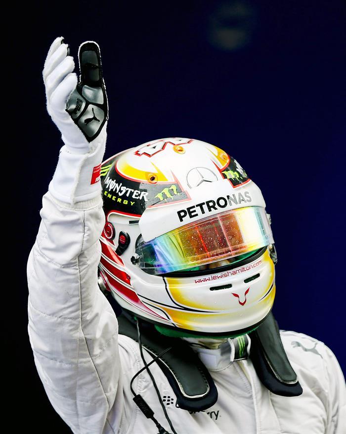 El piloto británico Lewis Hamilton saldrá primero en el Gran Premio de China. Foto: EFE