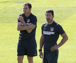 Simeone insiste en las pruebas con Villa, Diego Costa y Tiago en el once