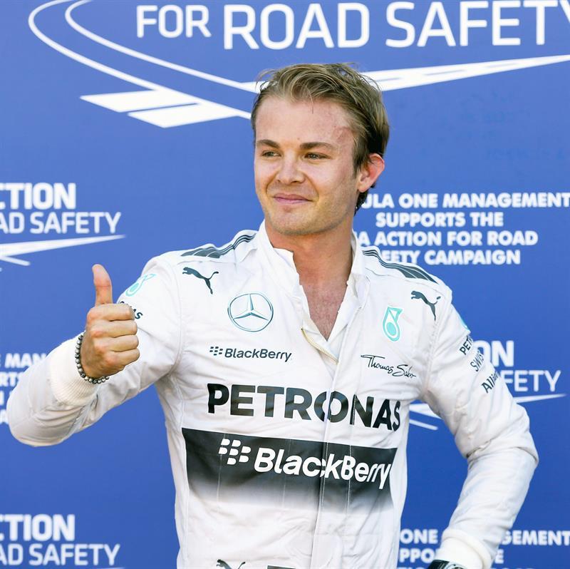 El piloto británico Nico Rosberg saldrá primero en el Gran Premio de Mónaco. Foto: EFE