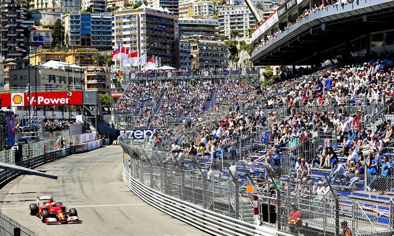 El piloto finlandés Kimi Raikkonen durante la clasificación del Gran Premio de Mónaco. Foto: EFE