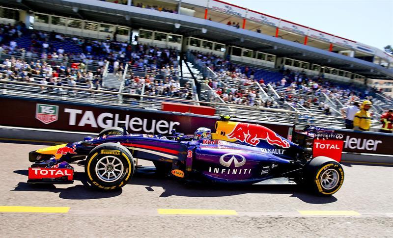 El piloto australiano Daniel Ricciardo durante la clasificación del Gran Premio de Mónaco. Foto: EFE