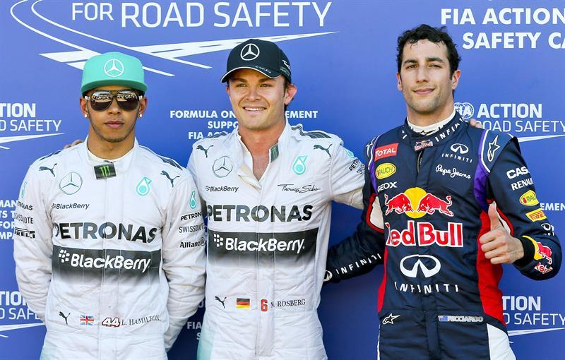 El podio de clasificación del Gran Premio de Mónaco. Foto: EFE