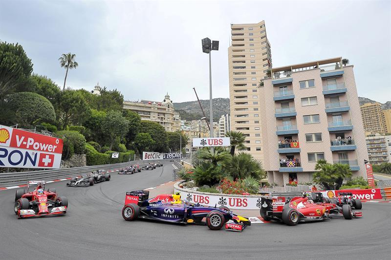 El piloto australiano Danierl Ricciardo durante el Gran Premio de Mónaco. Foto: EFE