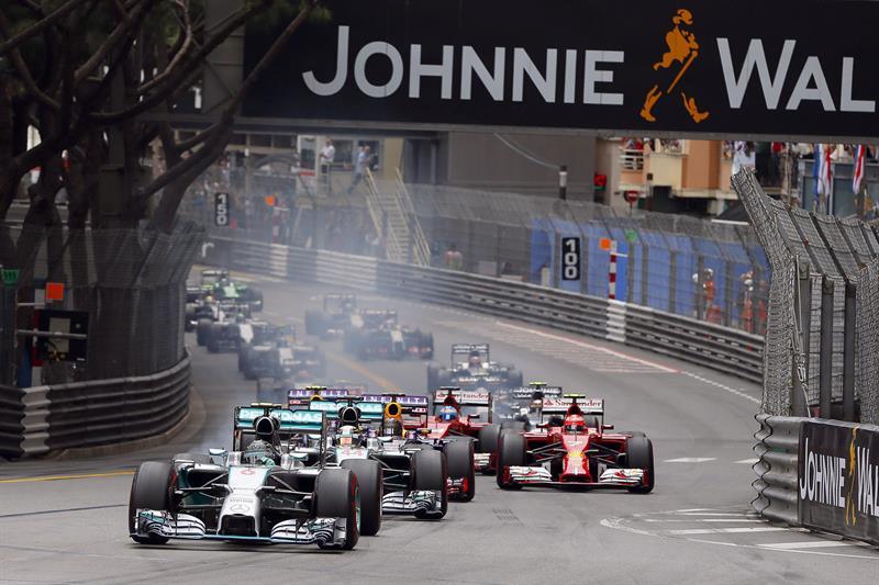 Pilotos durante el Gran Premio de Mónaco. Foto: EFE