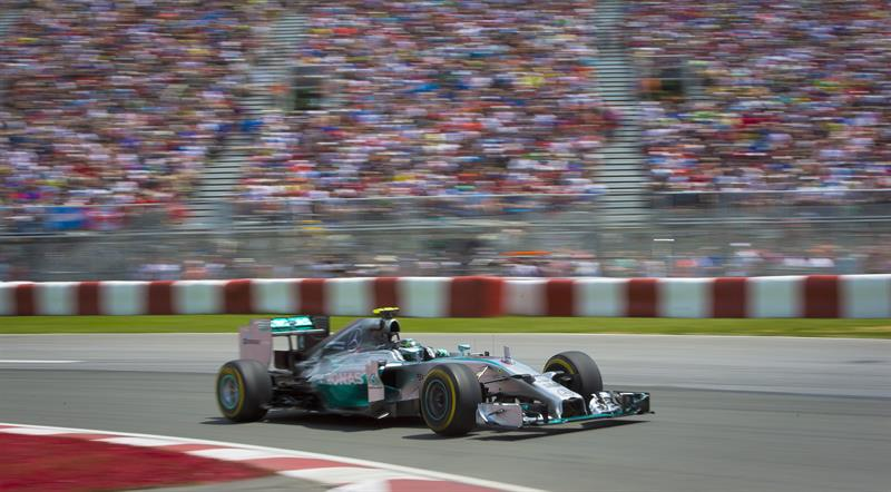 El piloto alemán Nico Rosbergo durante la clasificación del Gran Premio de Canadá. Foto: EFE
