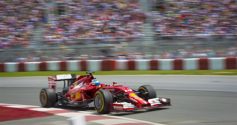 El piloto español Fernando Alonso durante la clasificación del Gran Premio de Canadá. Foto: EFE