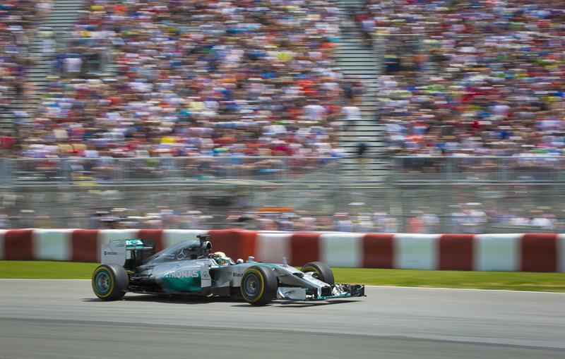 El piloto británico Lewis Hamilton durante la clasificación del Gran Premio de Canadá. Foto: EFE