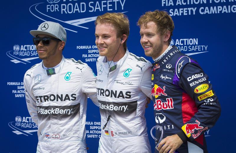 El podio de clasificación del Gran Premio de Canadá. Foto: EFE