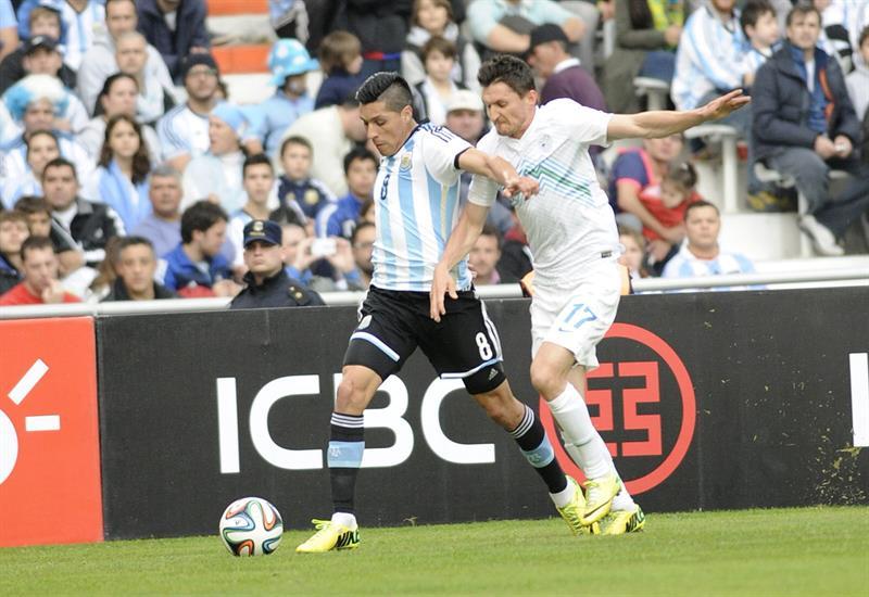 El jugador Lionel messi (i) de Argentina. Foto: EFE