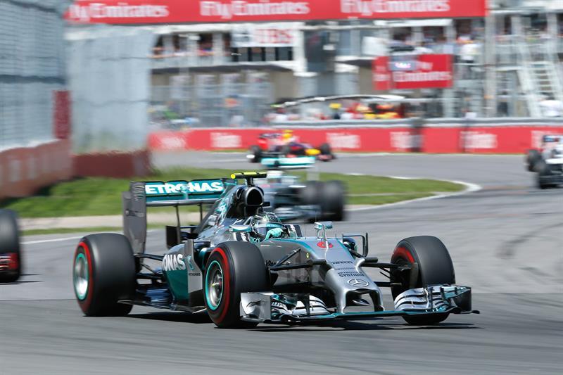 El piloto alemán Nico Rosberg durante el Gran Premio de Canadá. Foto: EFE