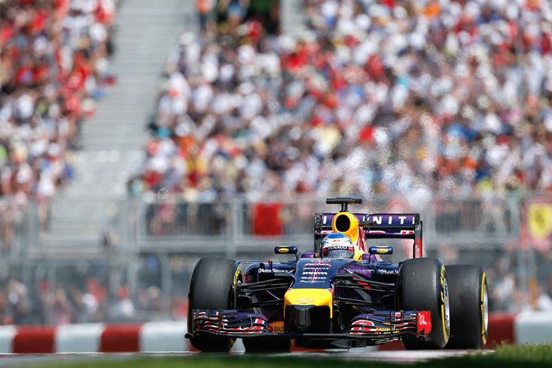 El piloto alemán Sebastián Vettel durante el Gran Premio de Canadá. Foto: EFE