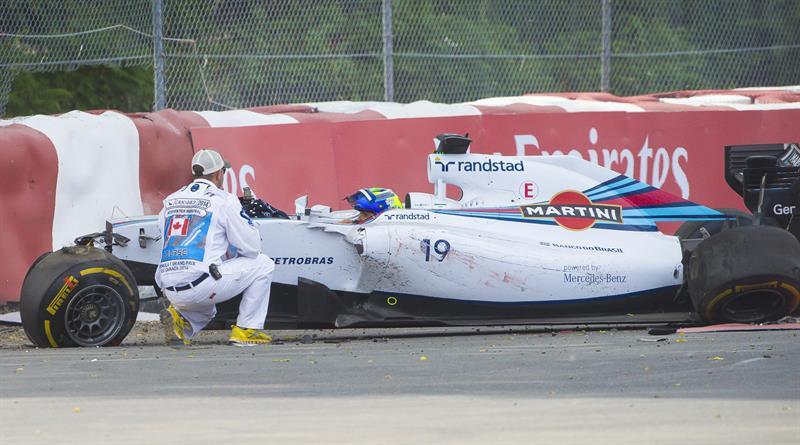 El piloto brasileño Felipe Massa durante el Gran Premio de Canadá. Foto: EFE