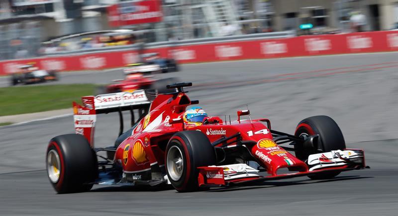 El piloto español Fernando Alonso durante el Gran Premio de Canadá. Foto: EFE
