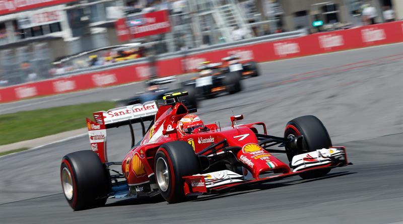 El piloto finlandés Kimi Raikkonen durante el Gran Premio de Canadá. Foto: EFE