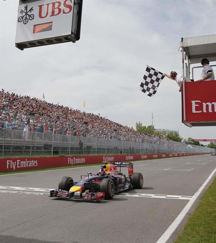 El piloto australiano Daniel Ricciardo durante el Gran Premio de Canadá. Foto: EFE