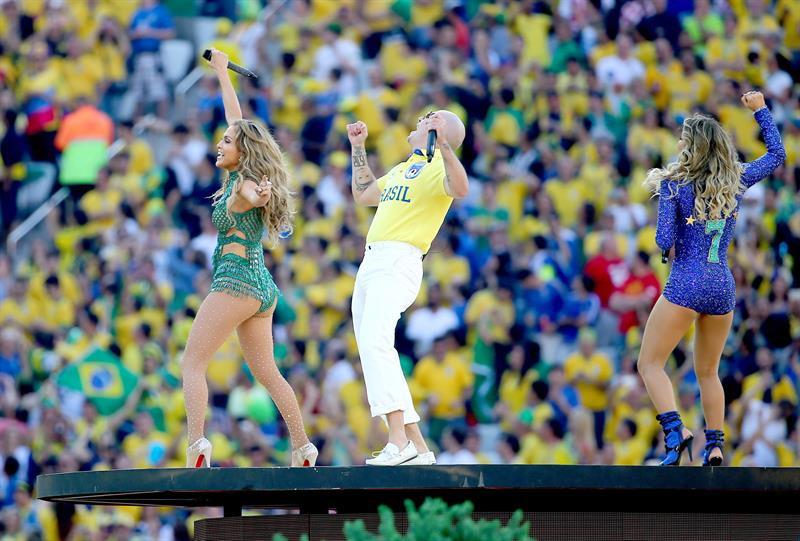 Un momento de la gala de inauguración del Mundial de Fútbol de Brasil 2014. EFE