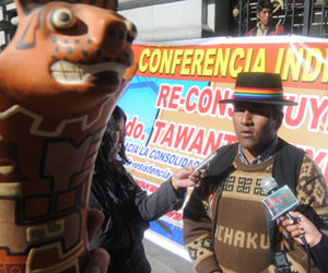 Conferencia en Tiwanaku para rememorar el antiguo Tawantinsuyu