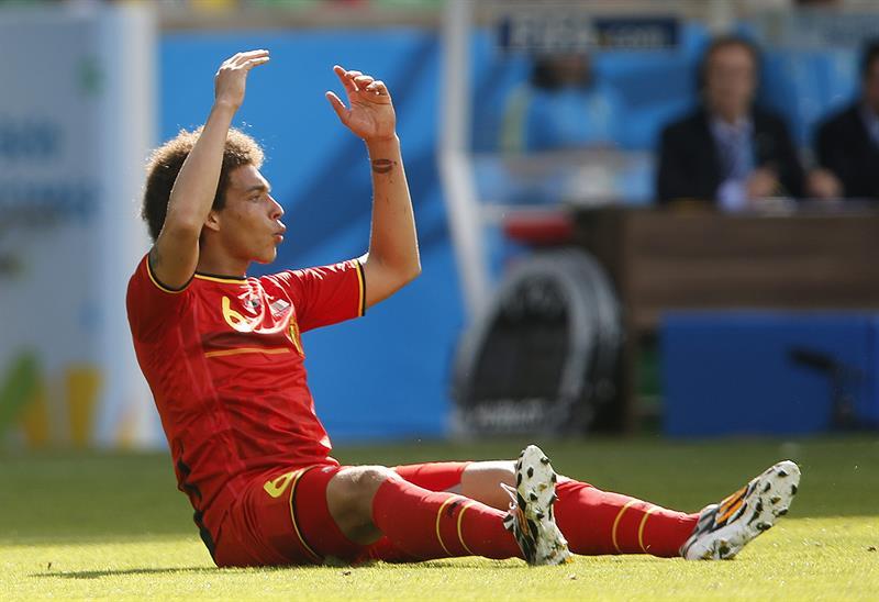 El centrocampista belga Axel Witsel, durante el partido Bélgica-Argelia, del Grupo H del Mundial de Fútbol. Foto: EFE