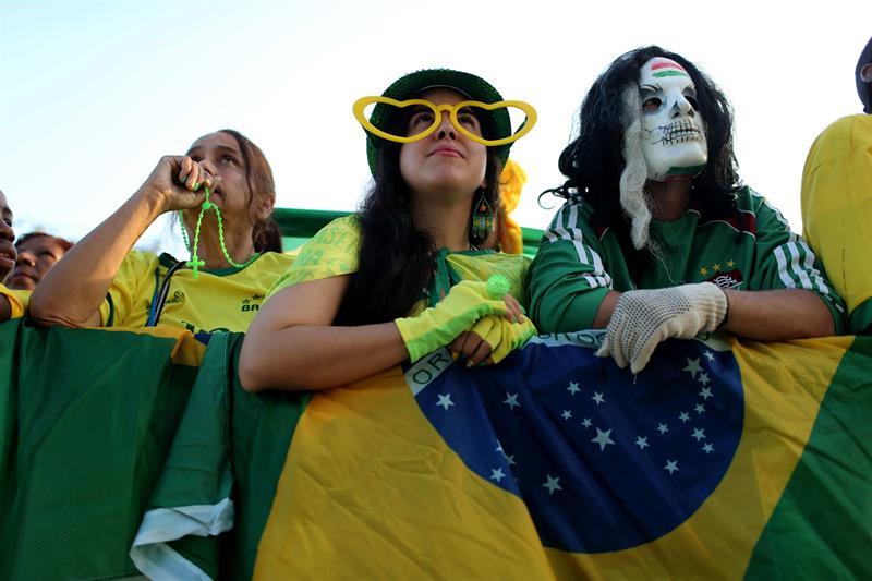 Aficionados de Brasil. EFE