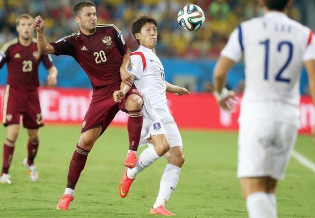 Rusia y Corea del Sur debutaron repartiéndose los puntos