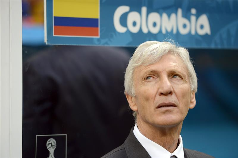 Colombia's Argentine head coach Jose Pekerman during the FIFA World Cup 2014 group C. EFE