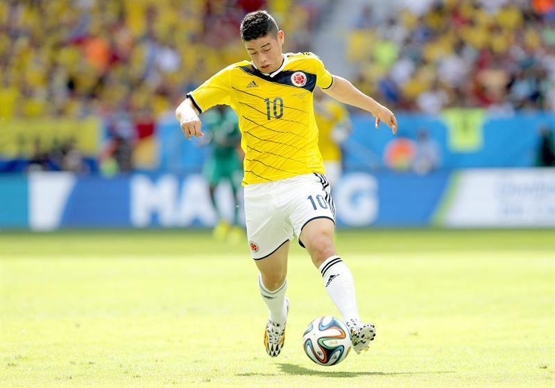James Rodriguez of Colombia in action during the FIFA World Cup 2014 group C. EFE