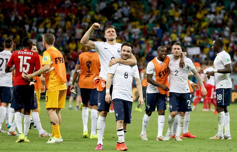 Así goleó Francia a Suiza (2-5) con un pie en octavos de final en Brasil 2014. EFE