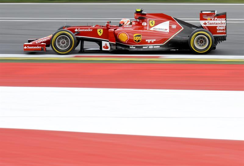 El piloto finlandés Kimi Raikkonen durante la clasificación del Gran Premio de Austria. Foto: EFE