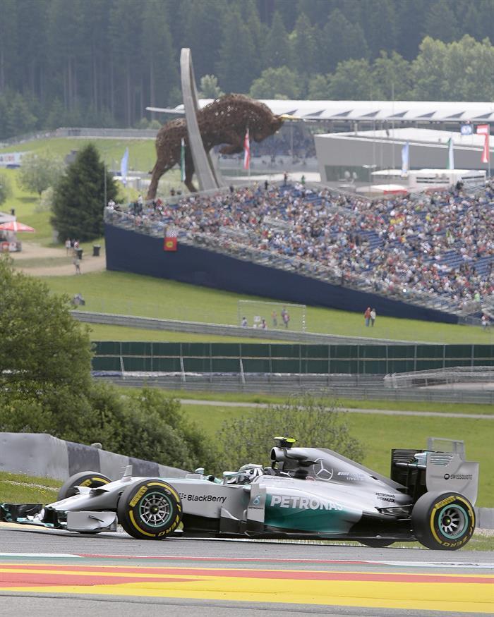 El piloto alemán Nico Rosberg durante la clasificación del Gran Premio de Austria. Foto: EFE