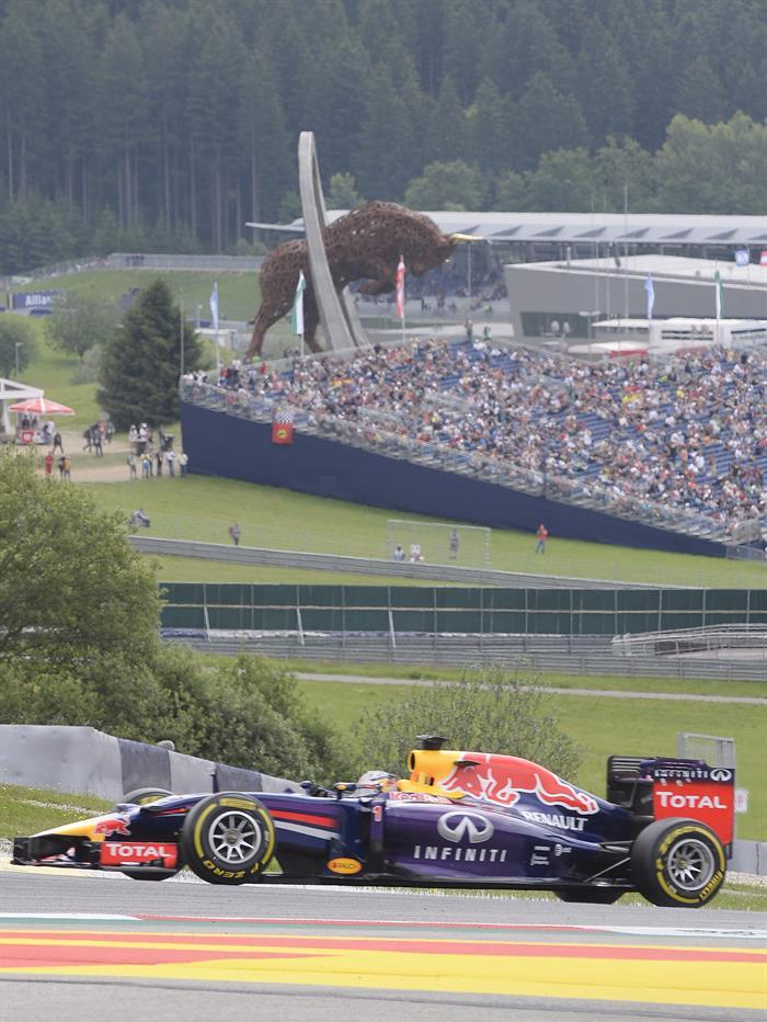 El piloto alemán Sebastian Vettel durante la clasificación del Gran Premio de Austria. Foto: EFE