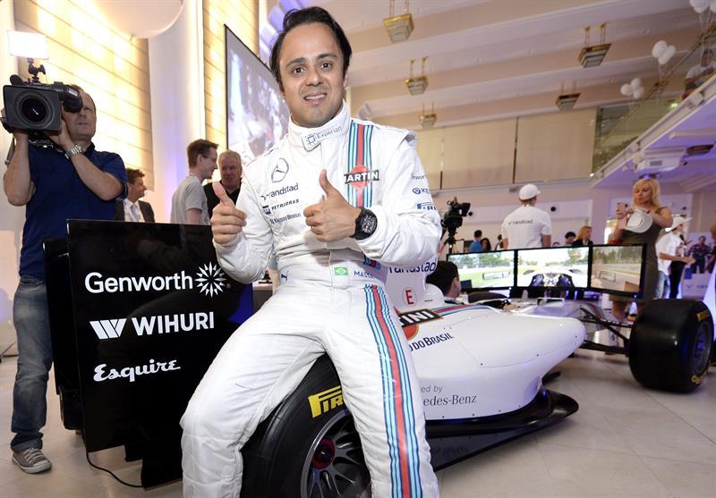 El piloto brasileño Felipe Massa saldrá primero en el Gran Premio de Austria. Foto: EFE