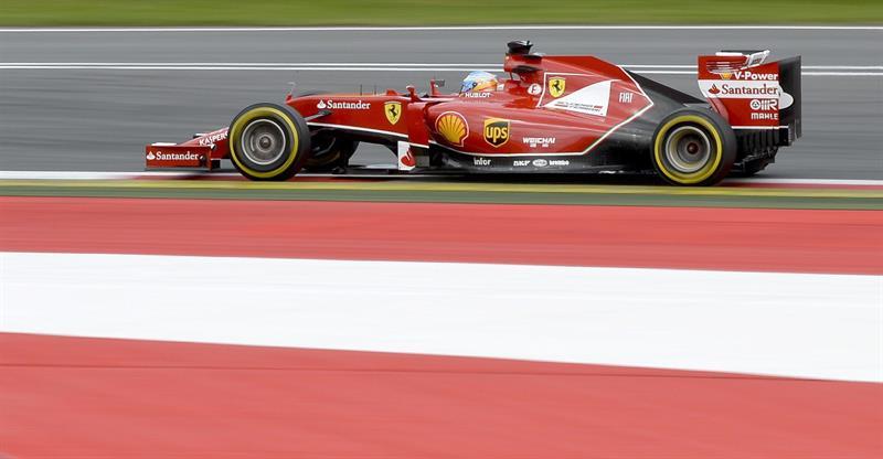 El piloto español Fernando Alonso durante la clasificación del Gran Premio de Austria. Foto: EFE