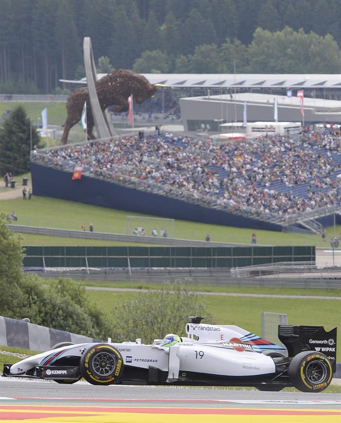 El piloto brasileño Felipe Massa durante la clasificación del Gran Premio de Austria. Foto: EFE