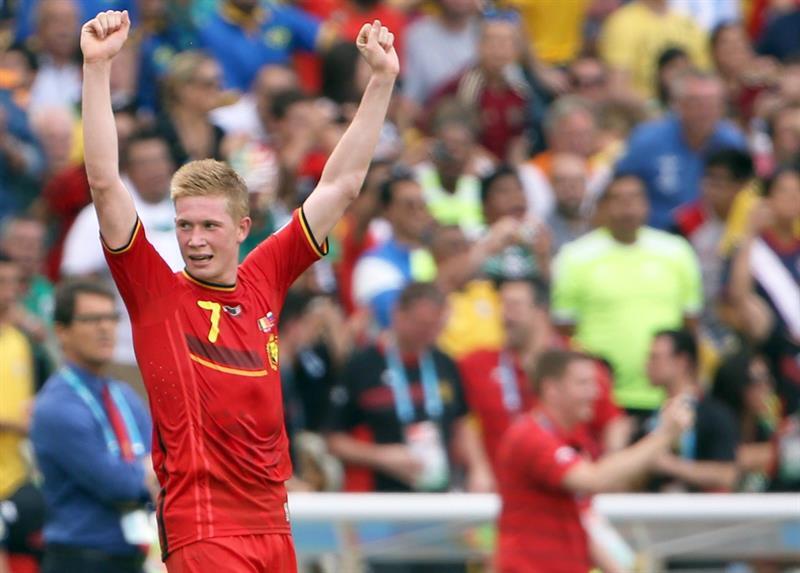 Bélgica venció 1-0 a Rusia con un gol de Divock Origi (88') y pasó a octavos de final. Foto: EFE