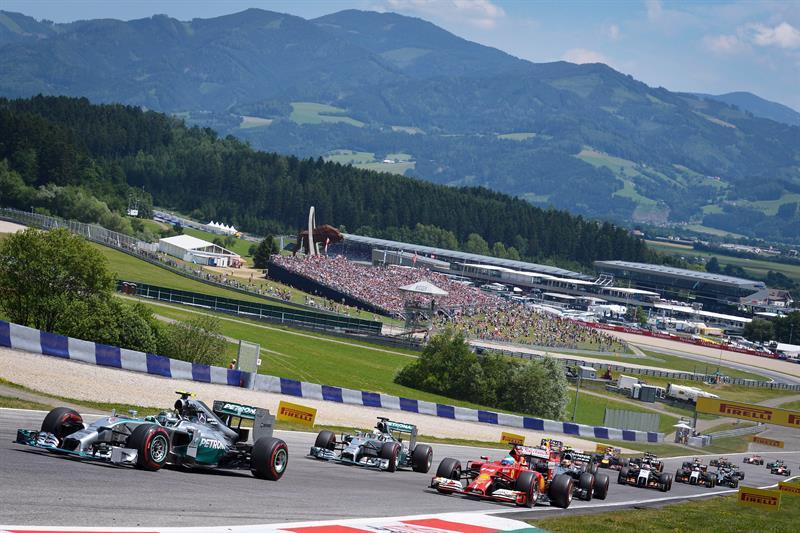 Pilotos durante el Gran Premio de Austria. Foto: EFE