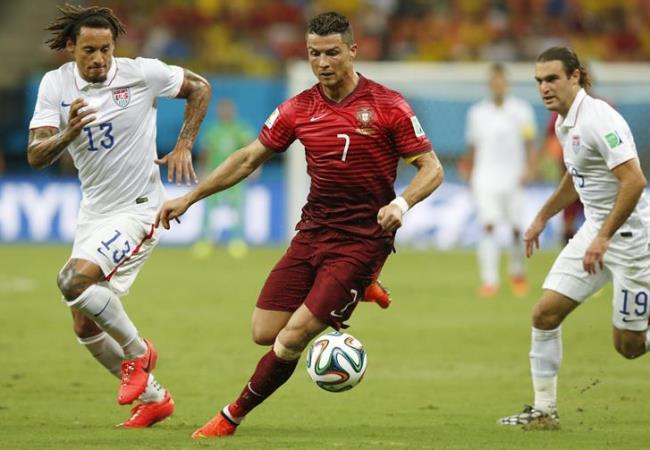 Cristiano Ronaldo aún no aparece como figura en el Mundial. Foto: EFE.