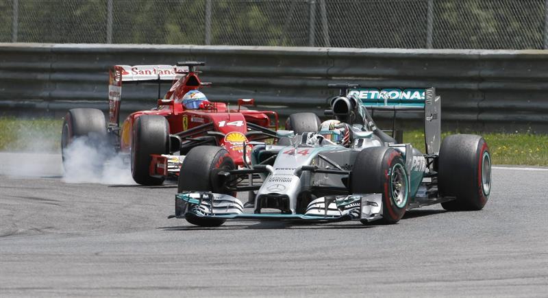 El piloto británico Lewis Hamilton durante el Gran Premio de Austria. Foto: EFE